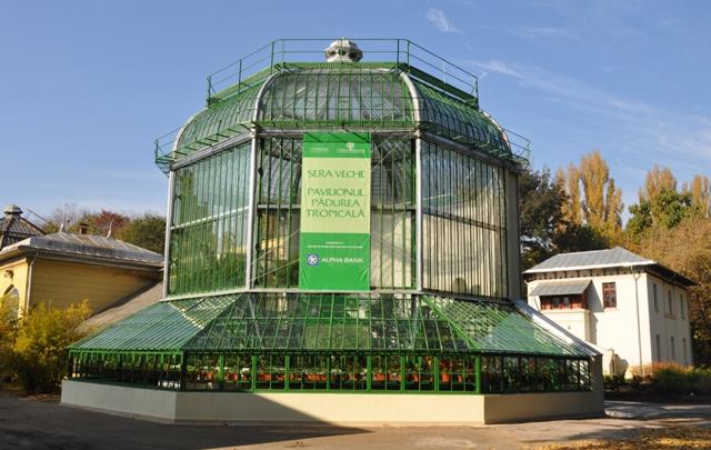 Sera veche de la Grădina Botanică, redeschisă cu sprijinul Alpha Bank