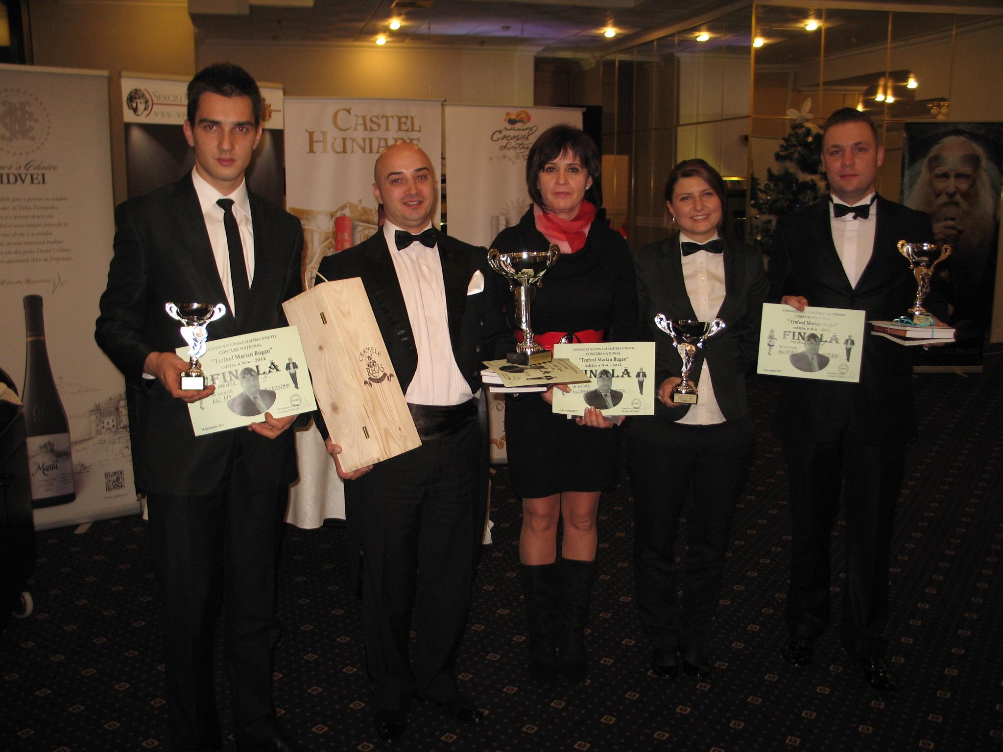 A X-a Ediţie a Concursului naţional Maîtres d' Hotel