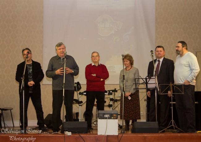 De la stânga la dreapta: Cristian Greţcu, Alexandru Mironov, Dumitru Prunariu, Uca Marinescu, Sorin Repanovici, Andi Caragea