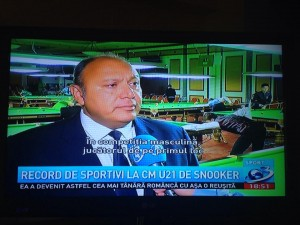 Maxime Cassis, vicepreşedintele Federaţiei Mondiale de Biliard şi Snooker şi preşedintele federaţiei europene de profil