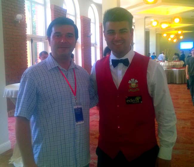 Alături de Jamie Clarke din Marea Britanie (Ţara Galilor), vicecampion mondial, runner up.