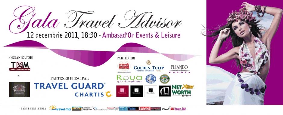 Liderii industriei turistice şi partenerii lor, premiaţi la Gala Travel Advisor 2011