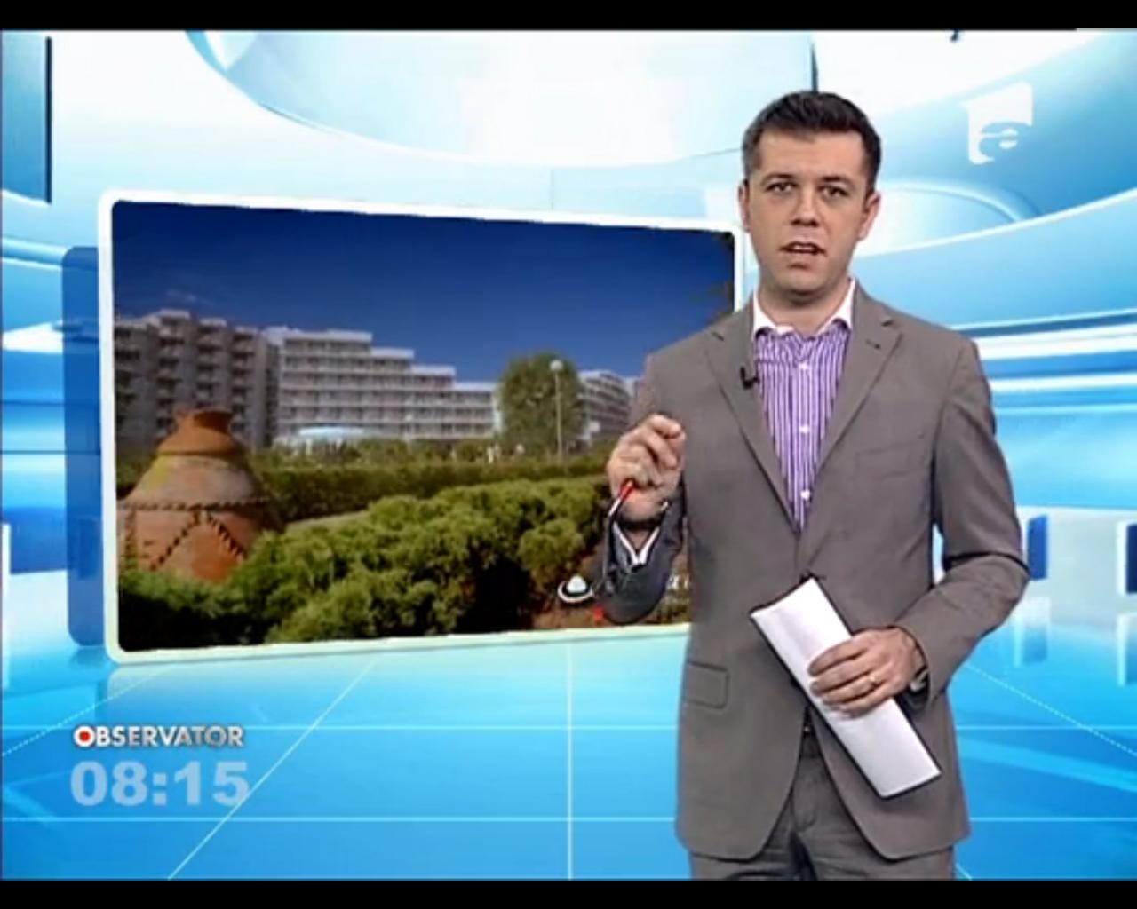 Daniel Osmanovici prezintă o rubrică de turism la Observatorul Matinal de week-end al Antenei 1