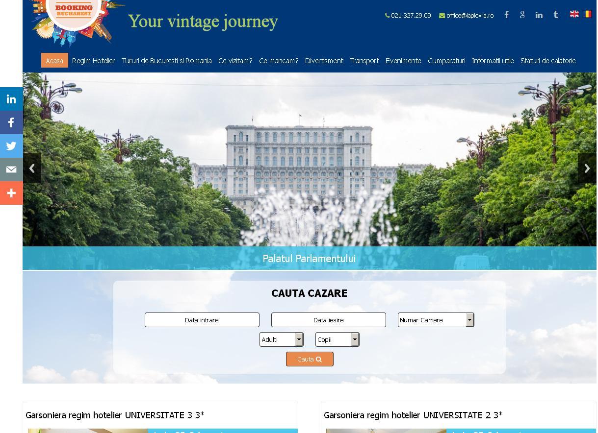 BookingBucharest, un proiect pentru promovarea Capitalei