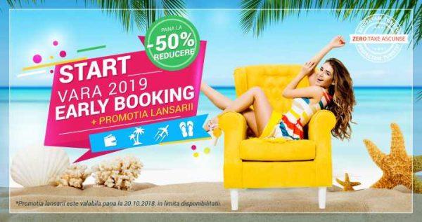 Early booking cu până la 50% reducere